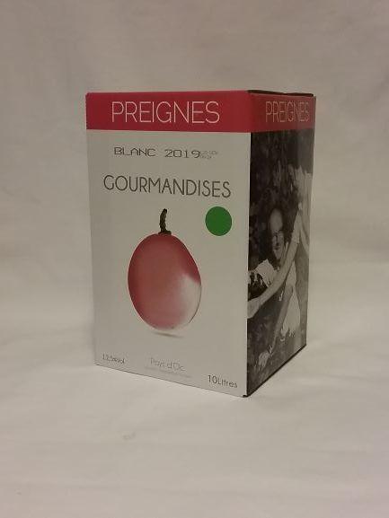 Gourmandises Blanc (Vin de Pays) - Preignes 2019 - BIB 10 L